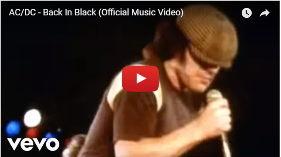 Music video for AC/DC's 'Back in Black '1980