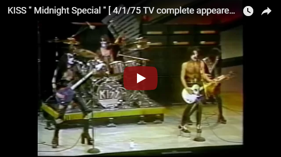 Kiss on the midnight special 1975
