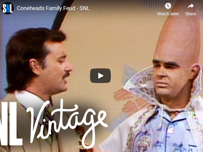 The Coneheads on Family Fued video still