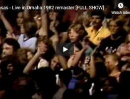kansas live in omaha concert 1982 video still