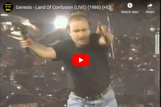 """WATCH: Genesis – """"Land Of Confusion"""" (LIVE) (1986)"""