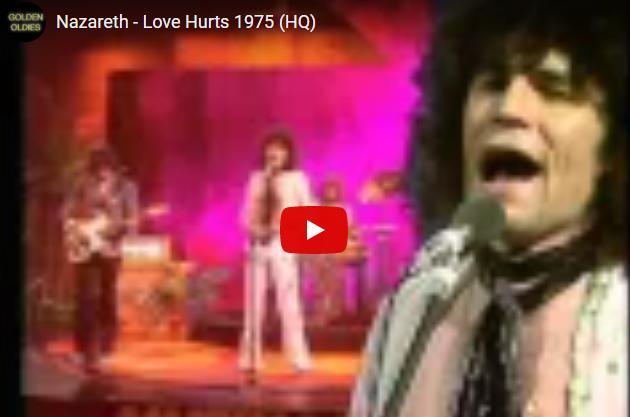 """WATCH: Nazareth - """"Love Hurts"""" 1975"""