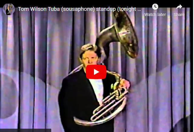WATCH: Tom Wilson (Biff) Performs w. a Tuba on The Tonight Show With Johnny Carson